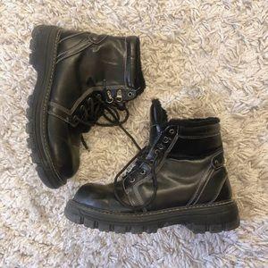 grunge platform combat boots